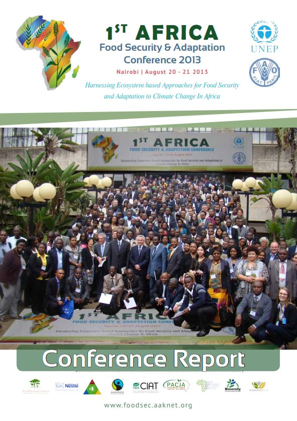 1st Africa food security and adaptation conference report